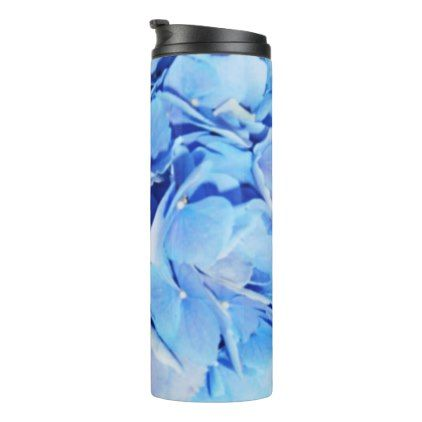 Blue Hydrangea Thermal Tumbler - home gifts ideas decor special unique custom individual customized individualized