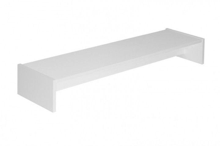 Doppel-Monitorständer für Galant Schreibtisch in weiß