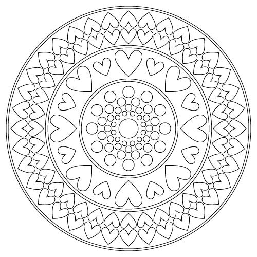 Mandala ☯☮ Color It Yourself! ☮