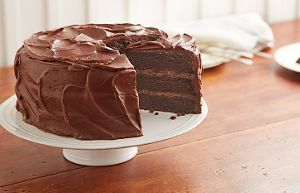 "Sub ""Cup 4 Cup"" Gluten-Free Flour + add chocolate ganache between layers and frost with chocolate whipped cream = BEST CAKE EVER!"