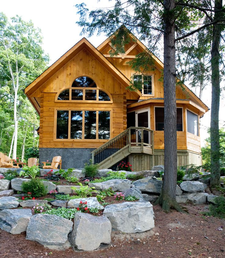Canadian cabin in the woods the