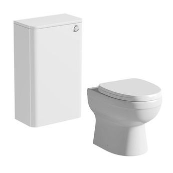 Mode Planet white back to wall toilet unit and Energy back to wall toilet