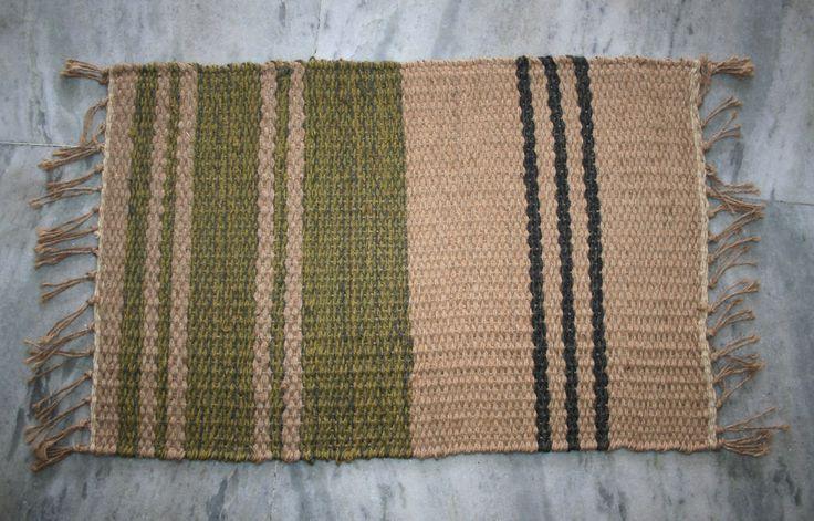 40x60Cm Turkish Jute Door Mat Handmade Room Doormats Floor Mats Jute Area Rug  #Unbranded