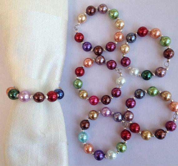 Grandes perlas de imitación con cuentas por DianaSianCrafts en Etsy