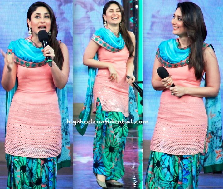 Karisma Kapoor (Wearing Nishka Lulla) Promotes GTPM On Bigg Boss Sets
