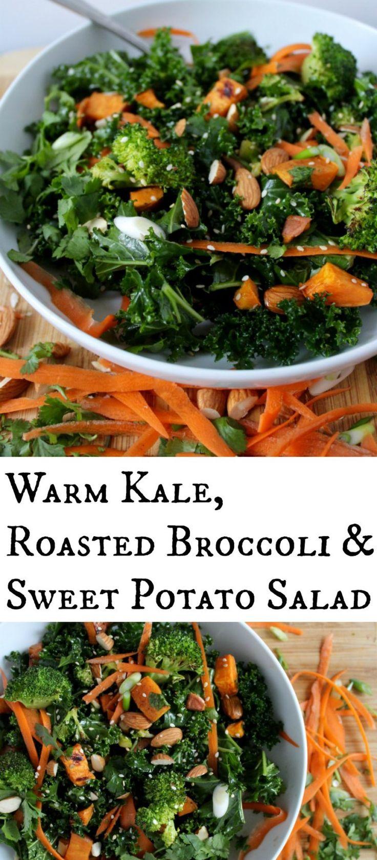 Warm Kale, Roasted Broccoli and Sweet Potato Salad with Sesame ...