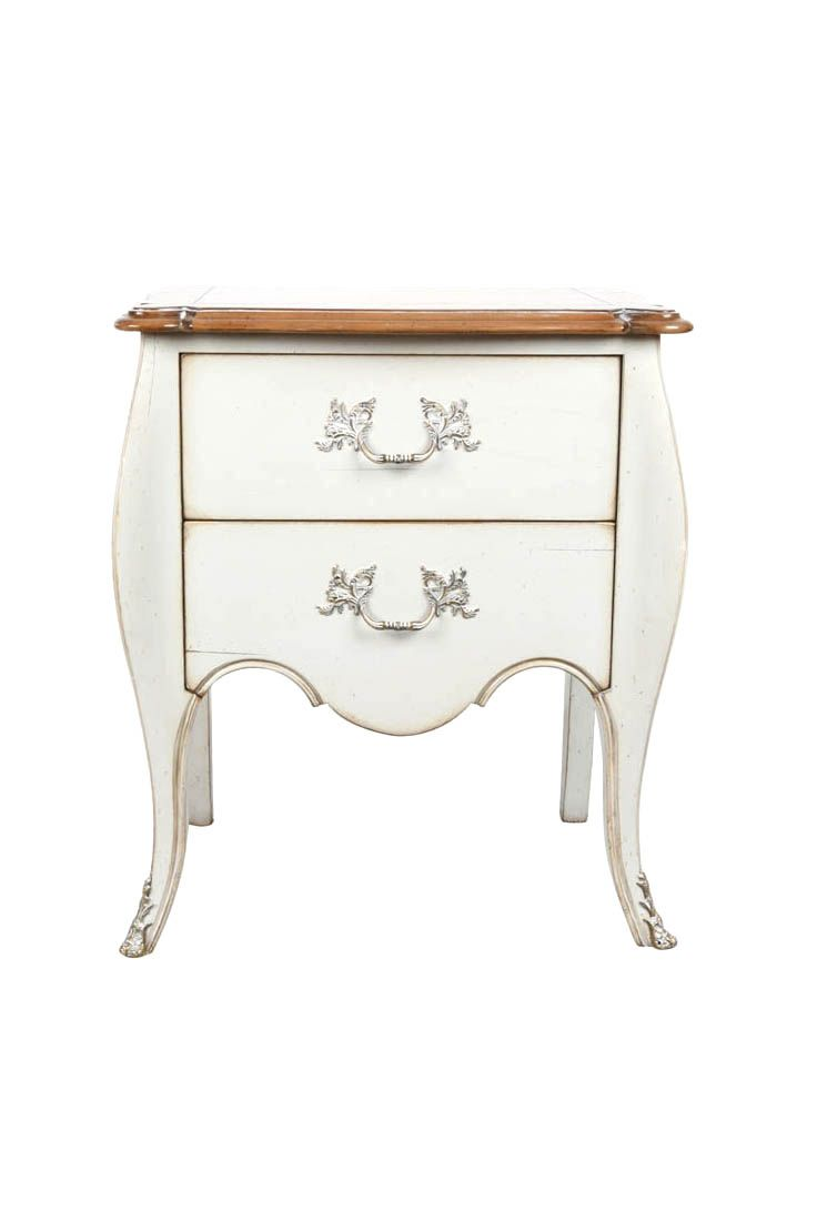 Light Grey Bedside Table: The Vaud Bedside Table Is Shown In Cherry Wood With A