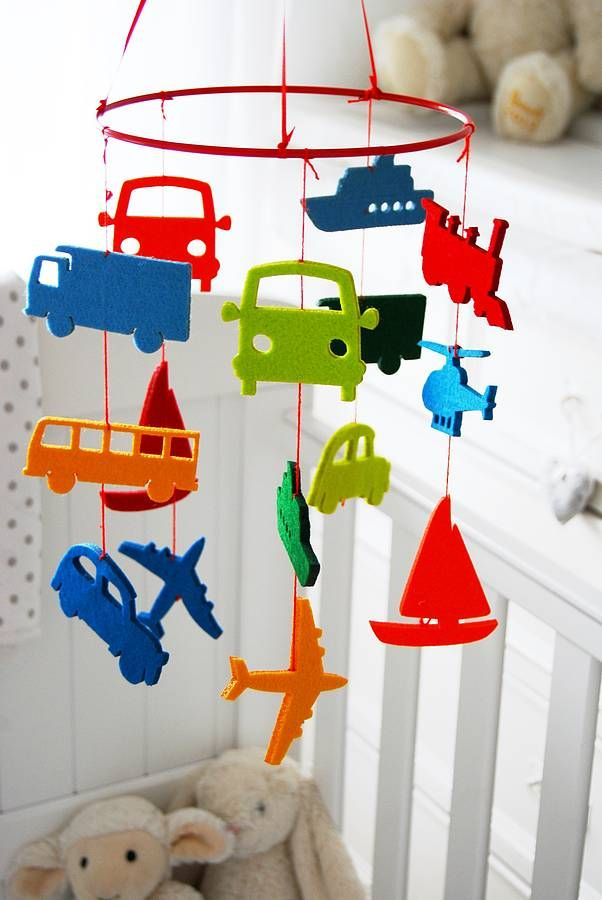 transport felt baby cot mobile by lavish + delight | notonthehighstreet.com