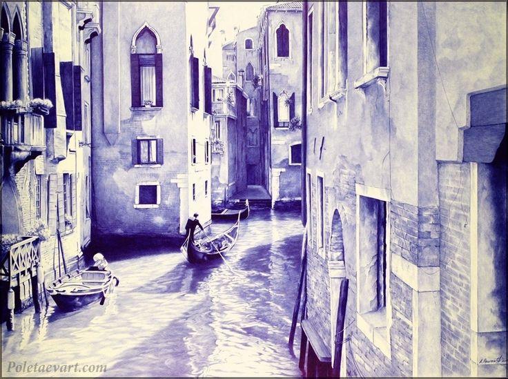 ballpoint_pen_drawing_poletaev_art_Venice (803×600)