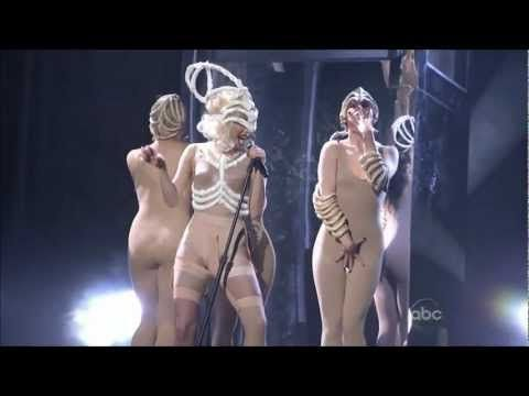 Lady Gaga Bad Romance/Speechless LIVE (2009) American Music Awards