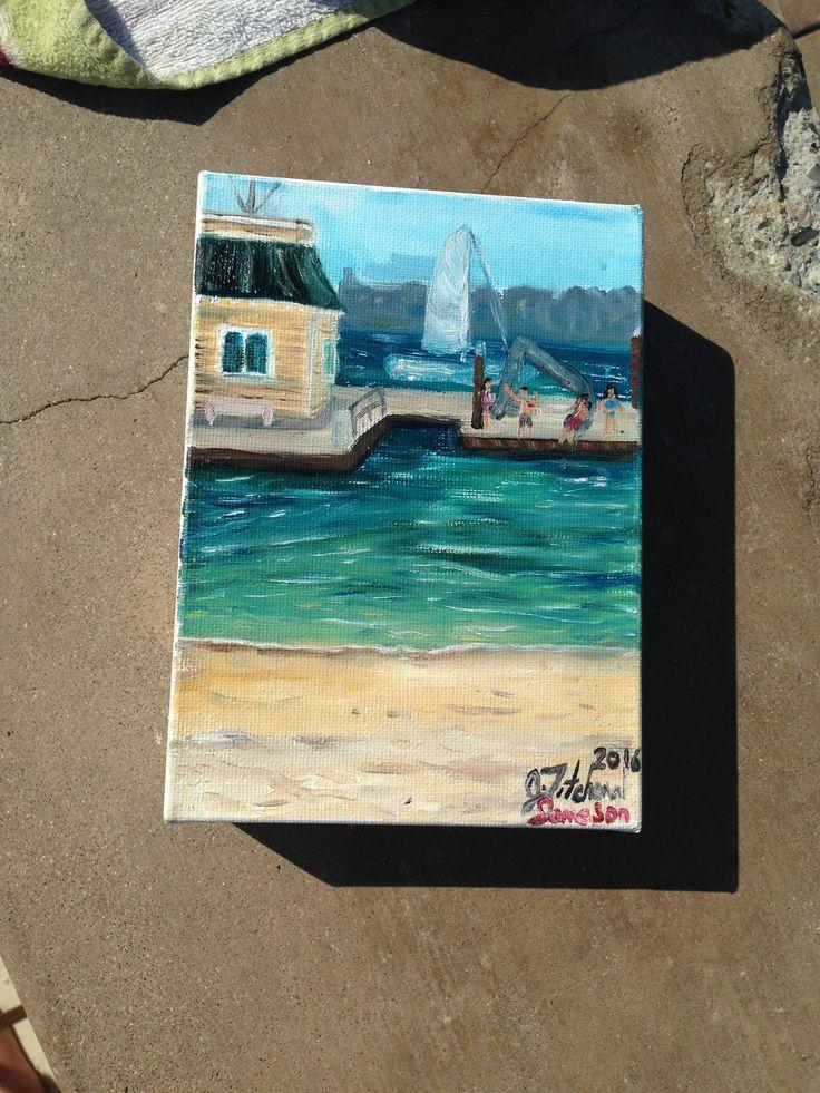 Balboa Bay Yacht Club Painting for Jameson By Artist Jennifer Titchenal