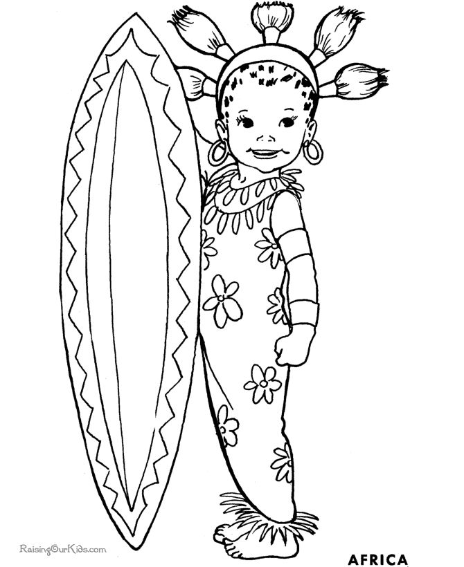 38 best African kids colouring images on Pinterest | Colouring pages ...