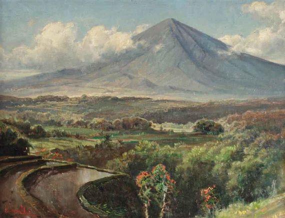 Basoeki Abdullah - Pemandangan di Sawah