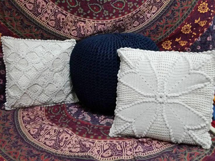 Crochet Pillows & Floor Pillow Pouf