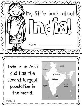 india booklet a country study use during social studies units about countries around the. Black Bedroom Furniture Sets. Home Design Ideas