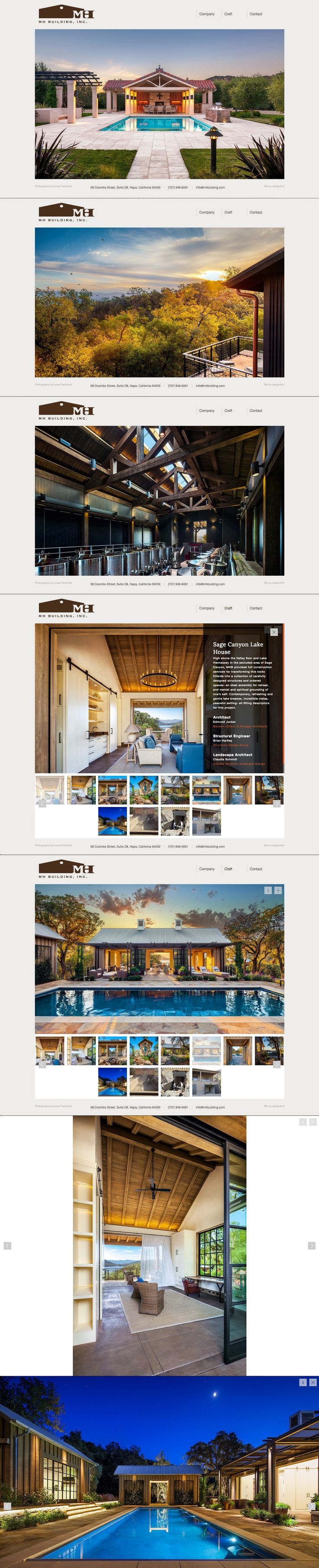 MH Building, Inc.   Website   by designthis!
