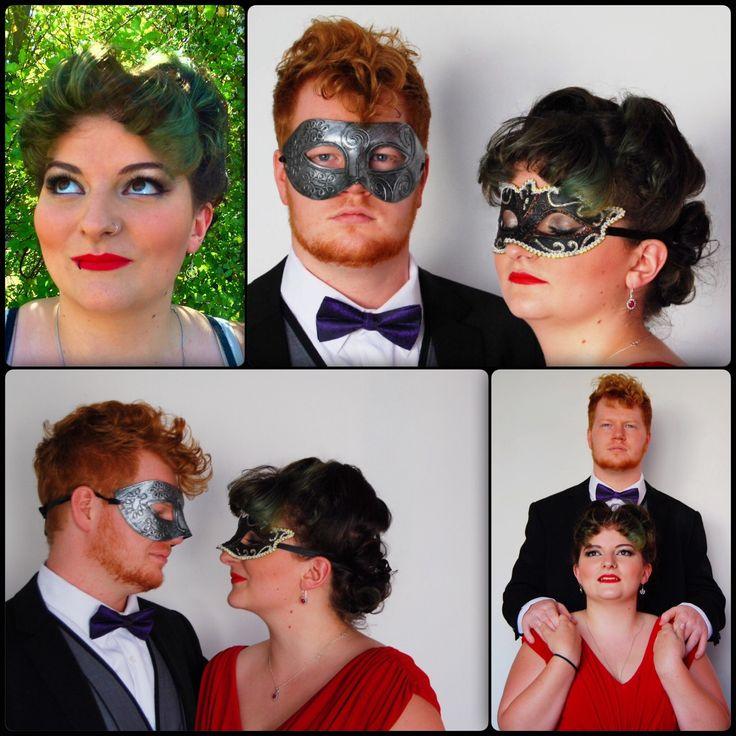 Masquerade party hair & makeup
