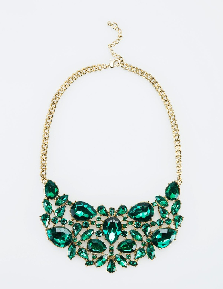 SIRAN necklace by INDISKA. Emerald.