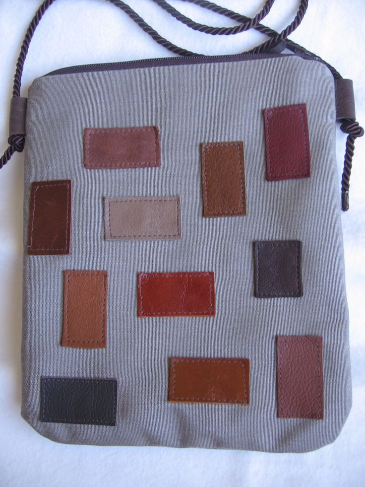 Canvas with leather patches