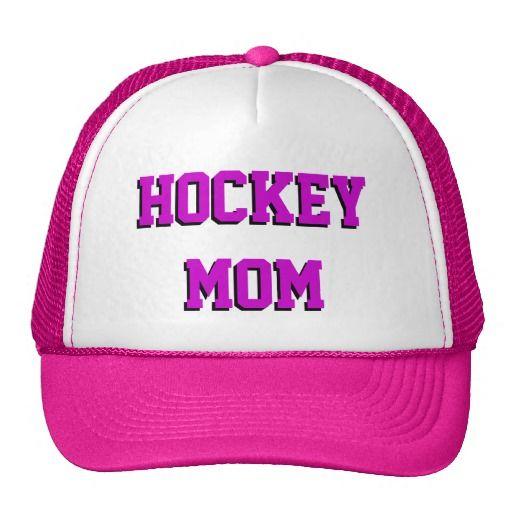 Hockey Mom Mesh Hat #hockeymom #hat #zazzle