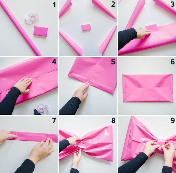 Giant Bow Gift Wrap DIY