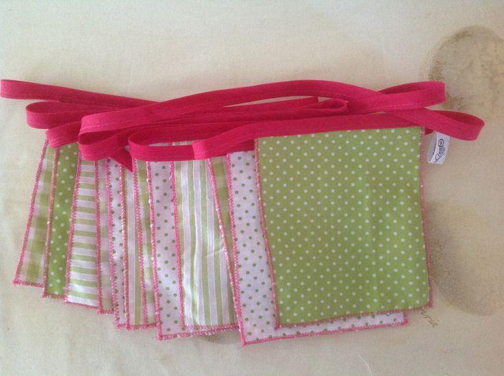 Vlaggenlijn, groen/roze