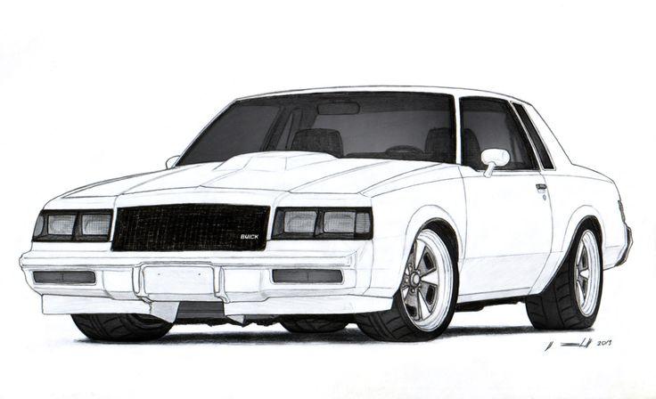 1986 Buick Grand National Drawing by Vertualissimo.deviantart.com on @deviantART - LGMSports.com