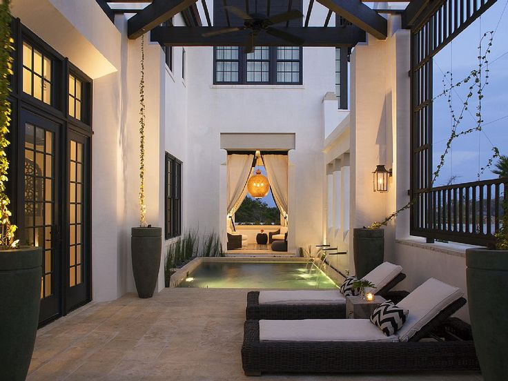Courtyard Pool In A Moroccan Style Home In Alyu0027s Beach, ...