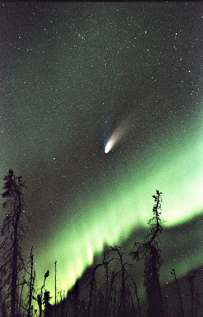northern lights comet - photo #10