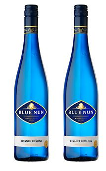 Blue Nun Wine, Germany.  When I first sampled German white Rhine or Mussel wine, I was won over.  Blue Nun Wines are some good examples of those wonderful wines.  I am very partial to those beautiful blue bottles.