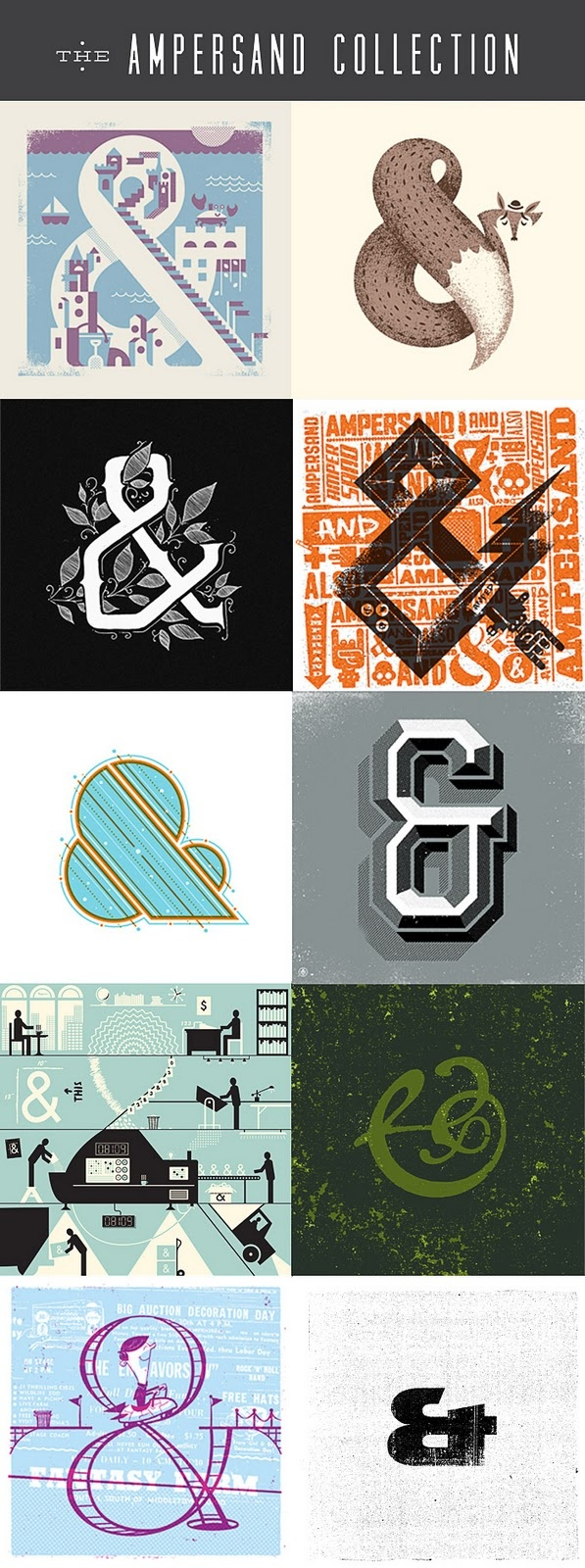 Beautiful and fun ampersand collection found at Mr. Mule's.