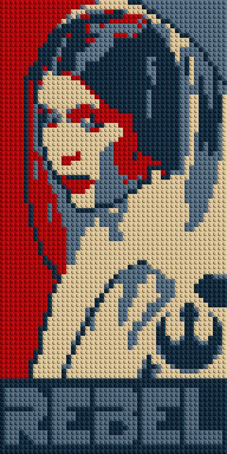 "Princess Leia ""Rebel"" LEGO® Mosaic - 15 in x 30 in by CreativeSquareStudio on Etsy https://www.etsy.com/listing/232636800/princess-leia-rebel-lego-mosaic-15-in-x"