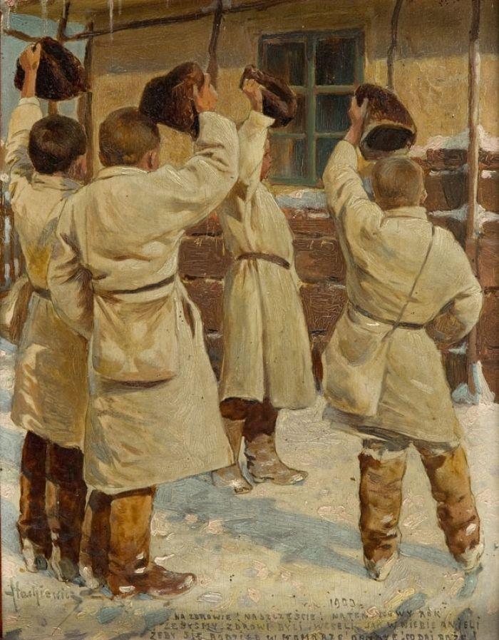 Piotr Stachiewicz - Kolędnicy, 1900 r.