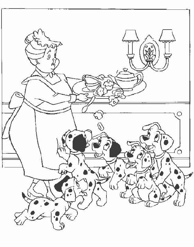 101 dalmatians coloring pages Color Me Tickled Pink