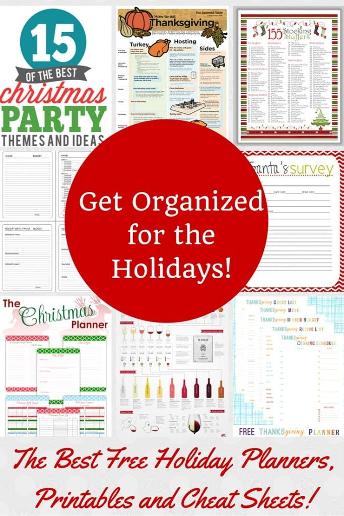 Holiday Organization Ideas! Planning any parties or fun activities for the holidays? Great tips for keeping it all organized!