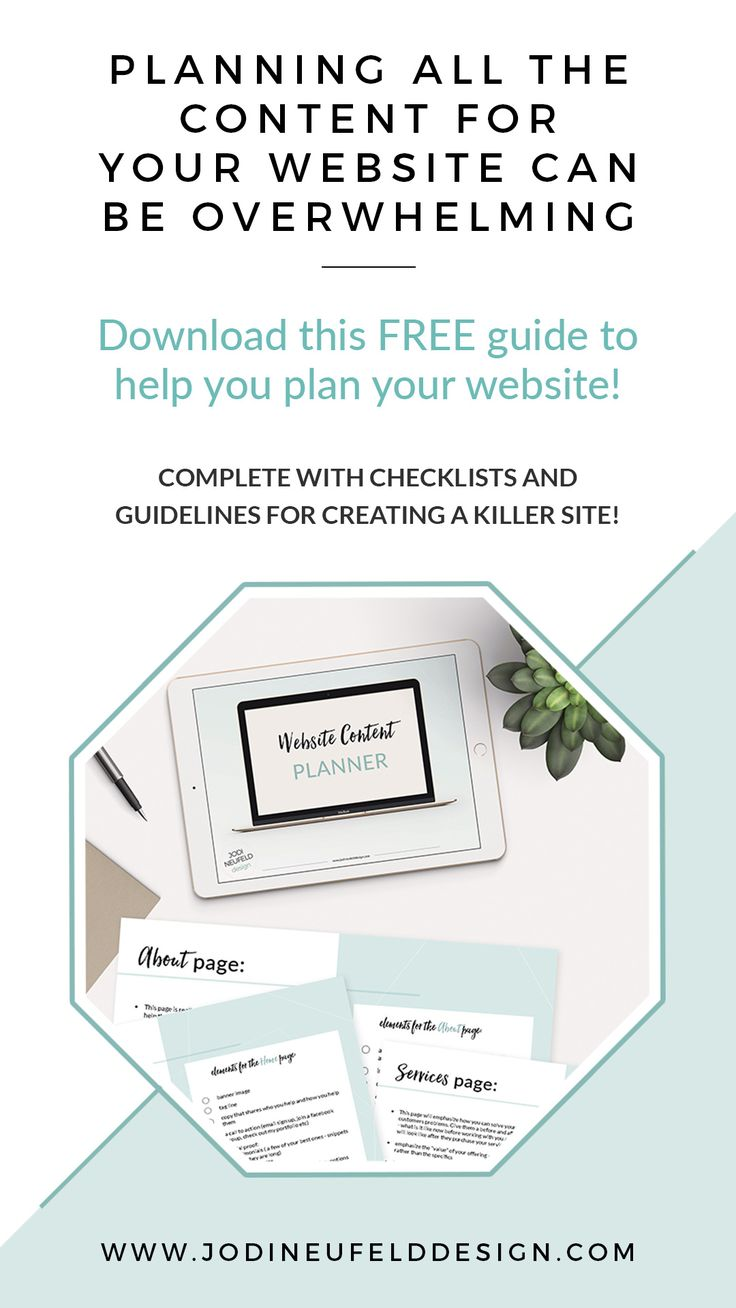 Do you need help planning the content of your website? What all do you really need when you create a website?  Download this guide to help you plan your website. It is complete with checklists and guidelines for what you need to create a killer website.