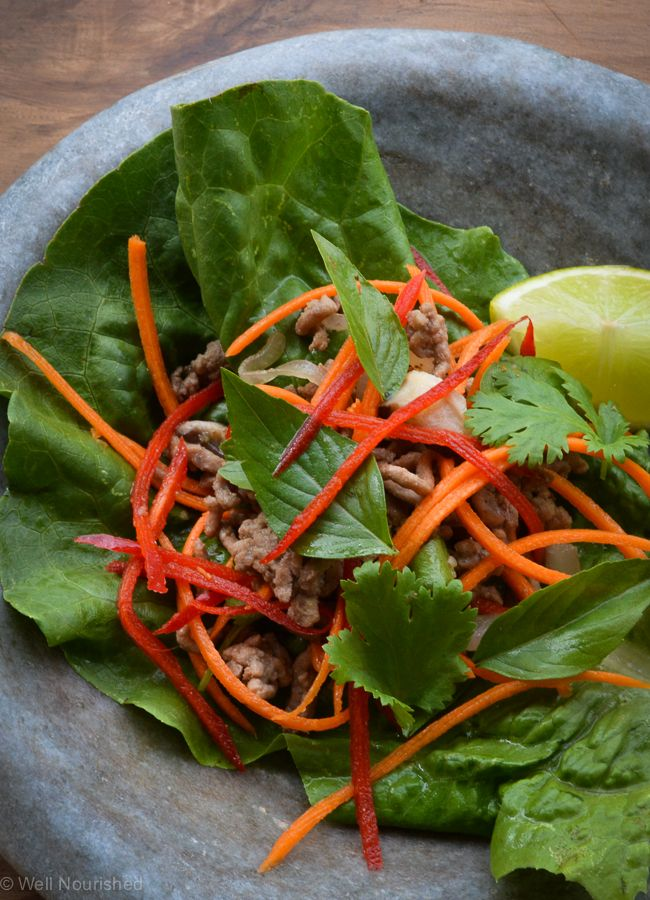 Asian lettuce cups - a simple, healthy, gluten and dairy free meal