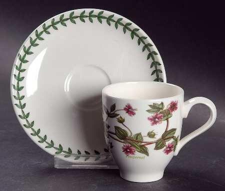 Portmeirion Botanic Garden Footed Demitasse Cup & Saucer Set