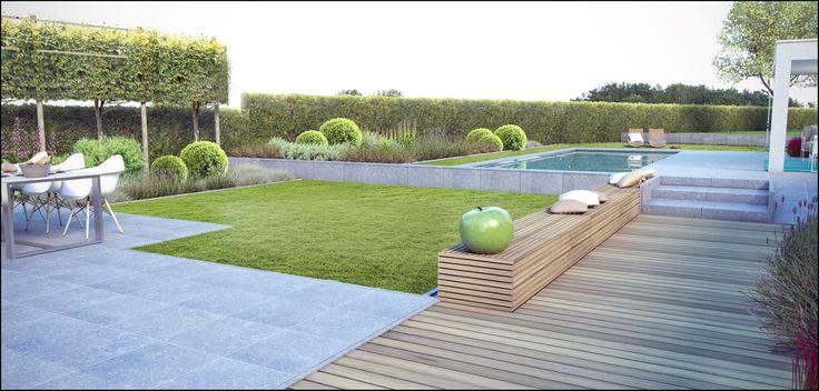 moderne tuin met zwembad - Google zoeken