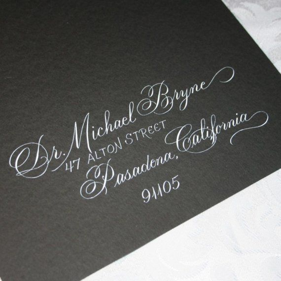 Calligraphy Wedding Envelope Addressing  by ArtfulCelebrations, $3.50