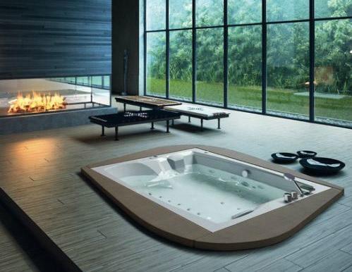 Vasche idromassaggio: Vasca idromassaggio Linea Duo 190/160 di Glass