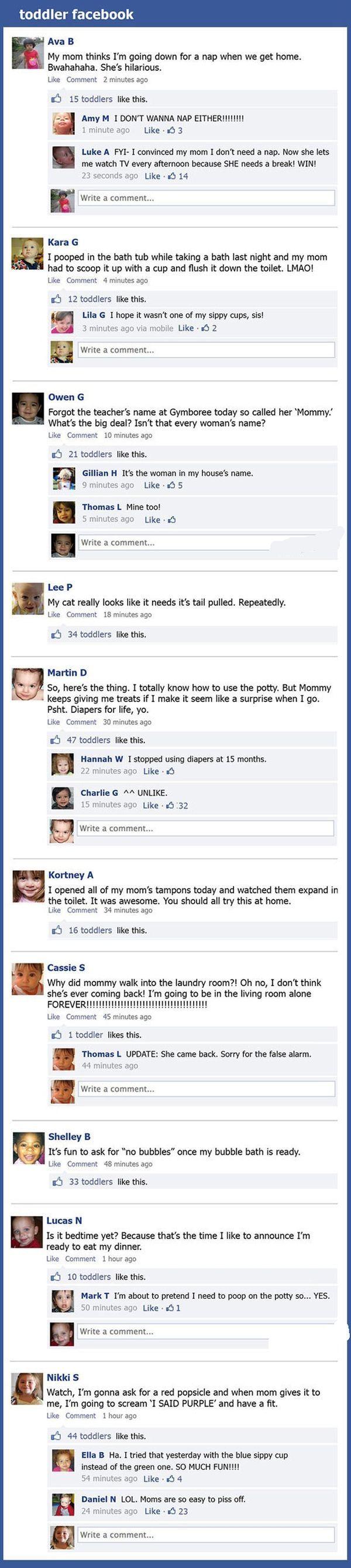 Toddler Facebook