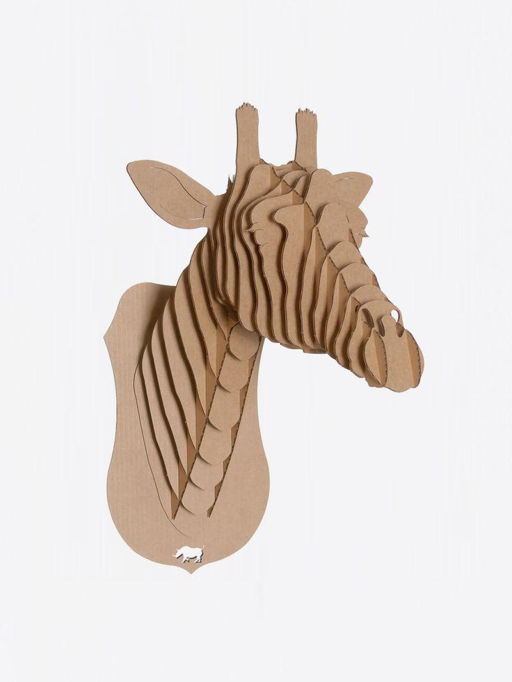 CARDBOARD SAFARI , Juliette Giraffe Bust Kahverengi Karton Zürafa Kafası Micro #shopigo#shopigono17#availableonsite#decoration#design#style#fashion#lifestyle