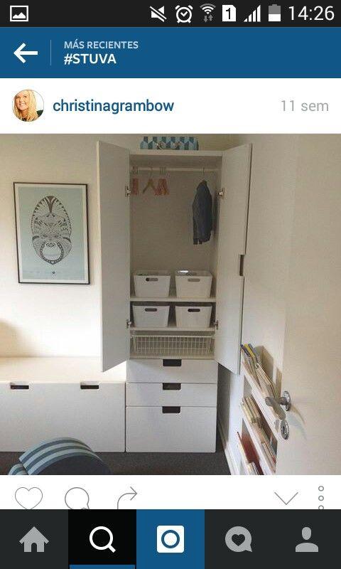 Ooh look, someone actually uses it as a wardrobe. IKEA stuva.