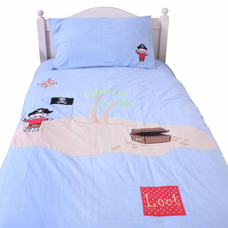 cot bedjunior pirate duvet cover and pillow case set ideal for your little