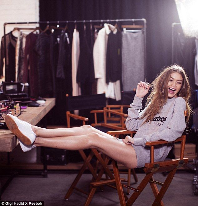 Legs for days: The Victoria's Secret Angel was the height of laid-back cool as she showed ...