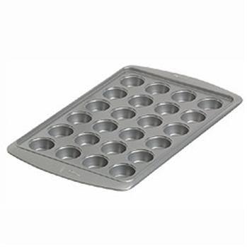 Wilton Avanti B/W Non-Stick Mini Muffin Pan 24-Cup Grey   Kitchen Stuff Plus