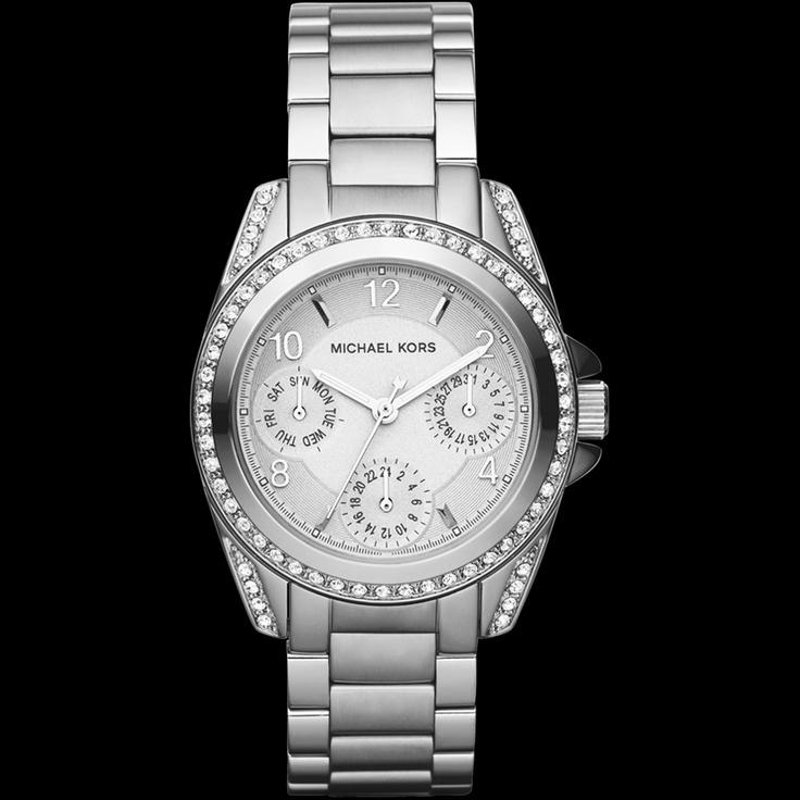 montre femme michael kors blair acier mk5612 comptoir du luxe mk5612 montres pinterest. Black Bedroom Furniture Sets. Home Design Ideas