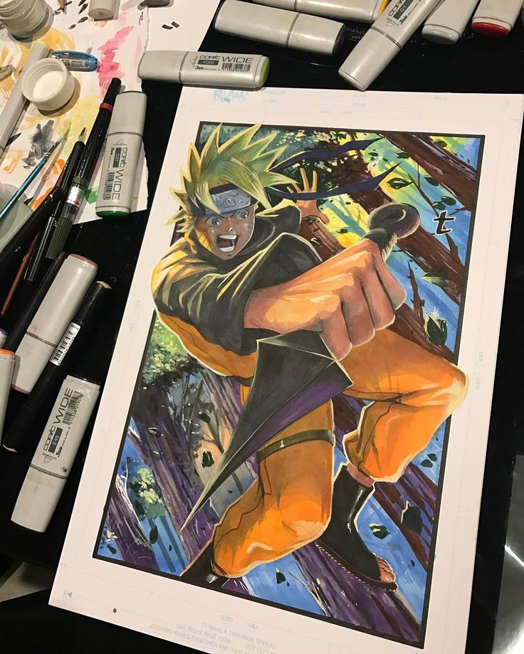 """5,140 Likes, 45 Comments - Terrance Whitlow Aka MUD-KLAW (@terrance_unchained) on Instagram: """"#naruto created such a mess #conceptart #conceptartist #illustration #art #artist #drawing #sketch…"""""""