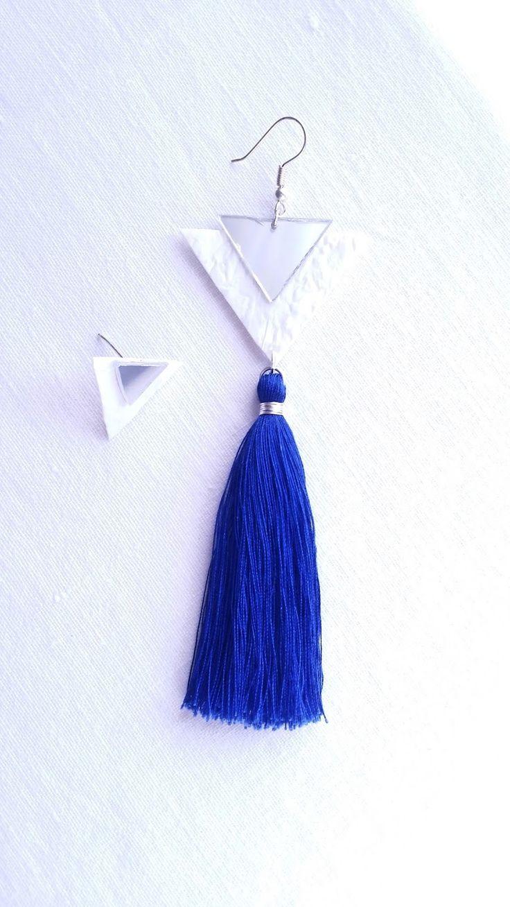 DIY Tassel Earrings | DIY σκουλαρίκια με φουντάκι από ανακυκλώσιμα υλικά